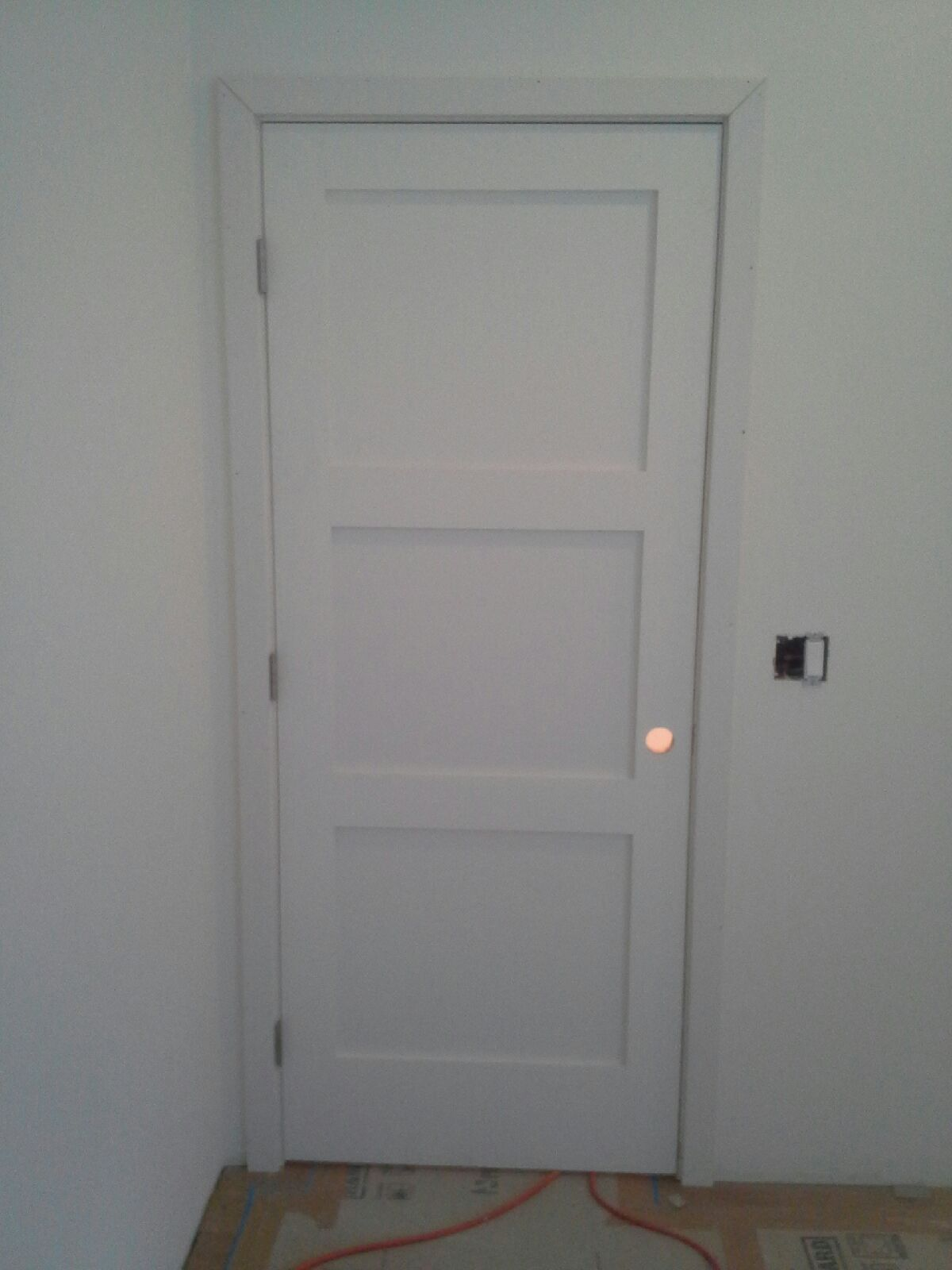 finished interior door