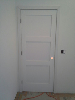 finished interior door