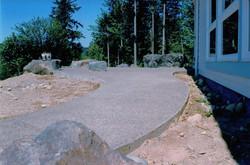 Concrete Walkway looking down