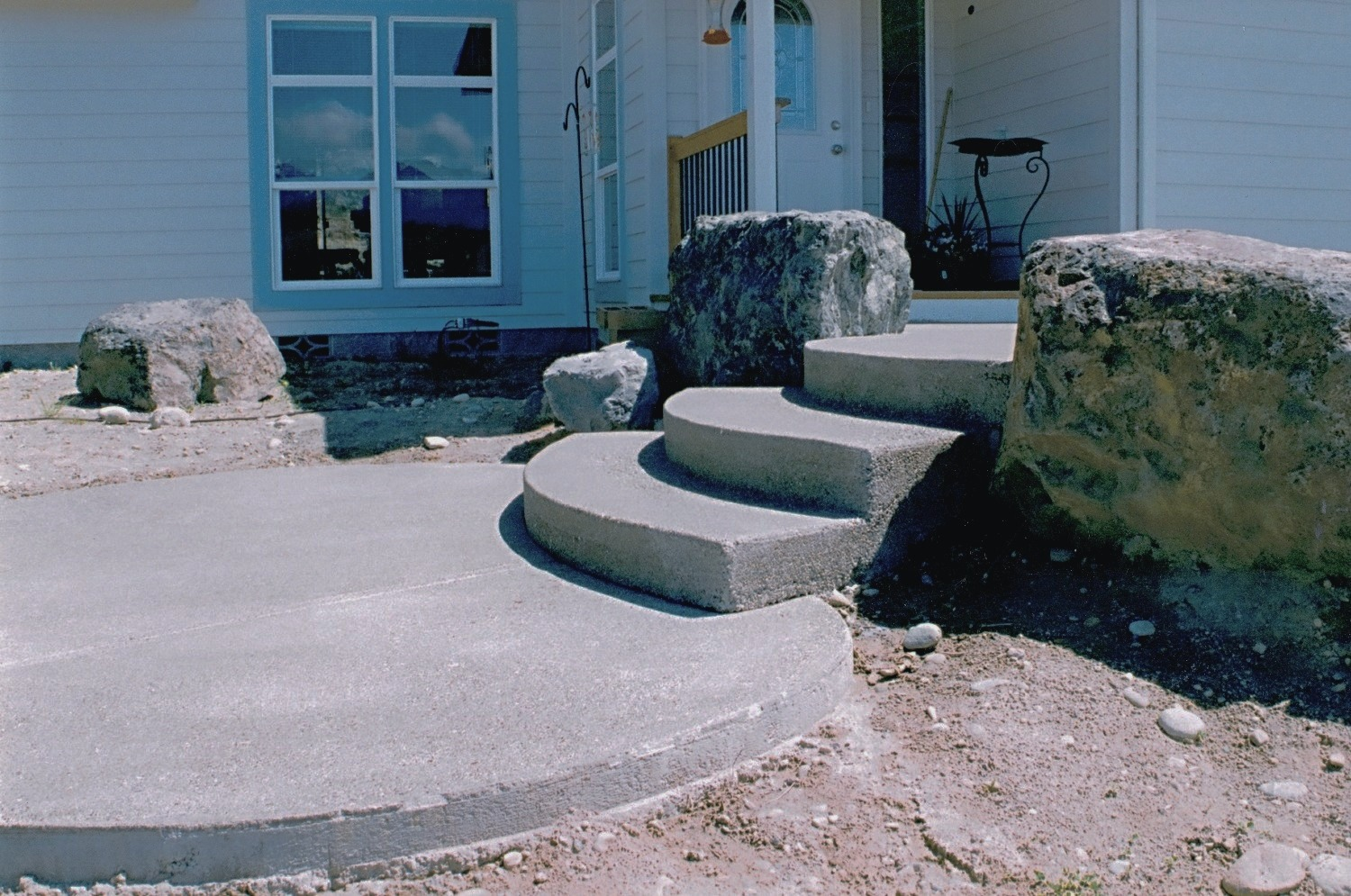 Finished Concrete Stairs