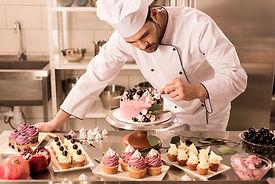 portrait-of-confectioner-decorating-cake
