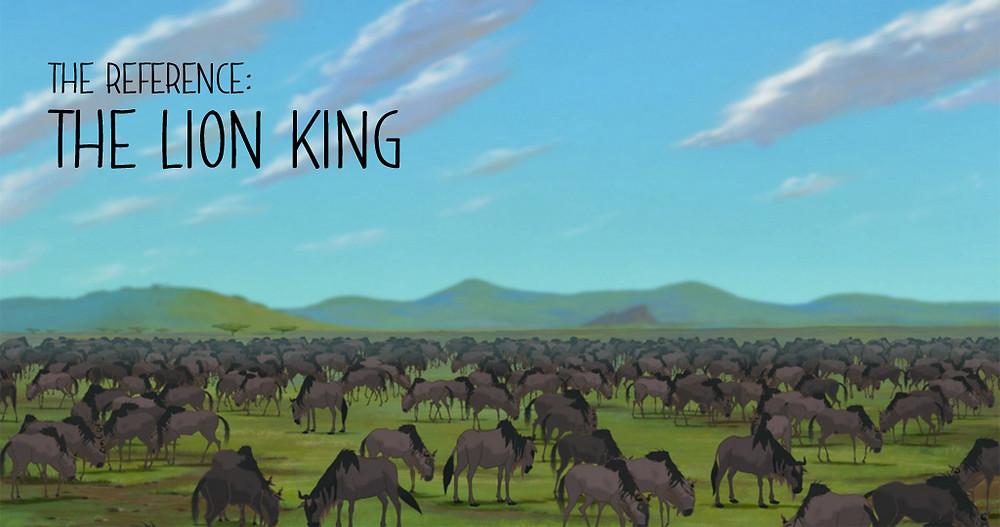 The Lion King - vast savannah scene