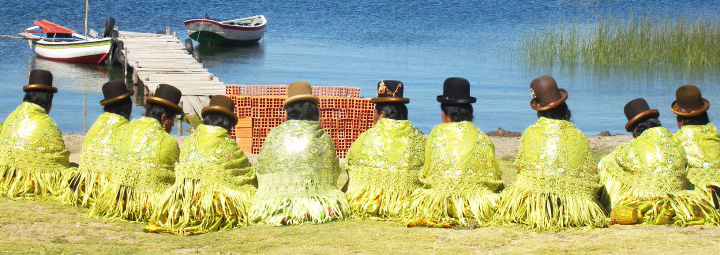 Bolivian Ladies on Isla del Sol