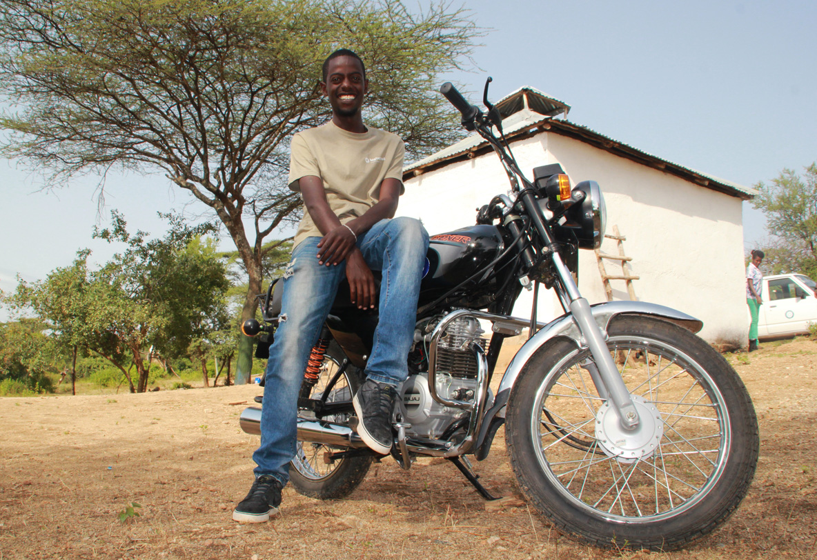 Geta and his Bike