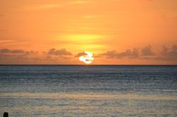 Sunset in the Seyshelles