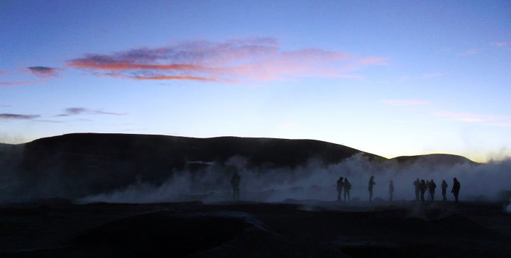 Steaming Geyseys, Bolivia