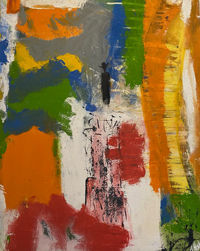 Beyond the Horizon - Abstract Expressionist  Art By Augustin Kelvin Holder