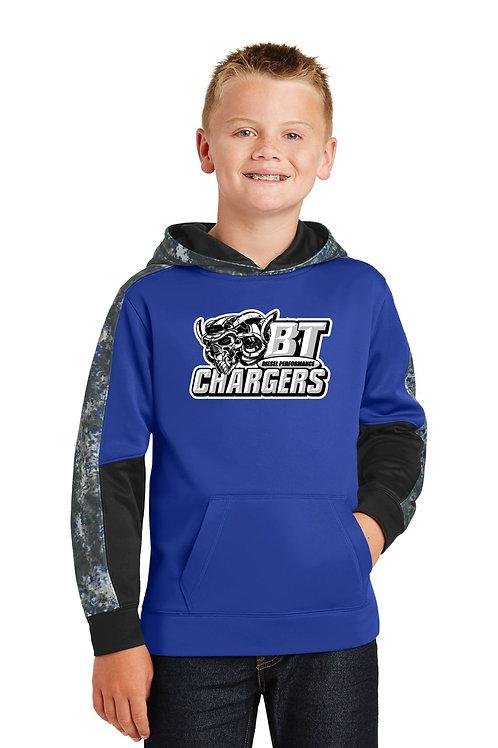 BT Chargers Sport-Tek® Sport-Wick® Mineral Freeze Fleece Colorblock Hooded Pullo