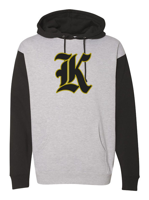 "Kuna ""K"" Hooded Two Tone Heavy Sweatshirt"