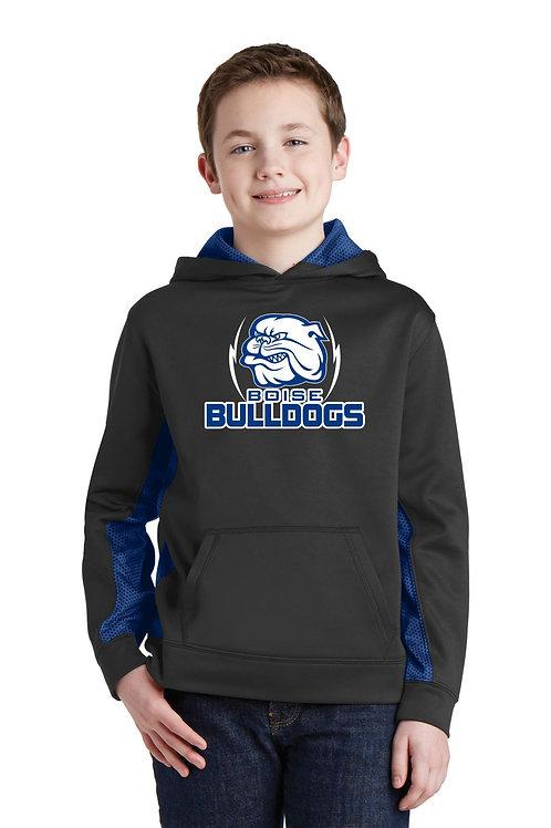 Sport-Tek® Sport-Wick® CamoHex Fleece Colorblock Hooded Pullover
