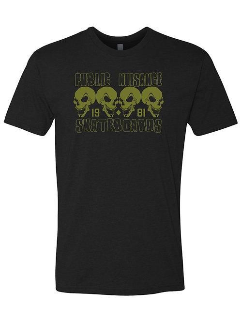 """Public Nuisance Skateboards """"1981 Skull"""" S/S T-Shirt"""