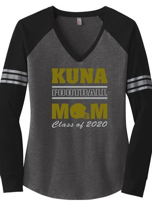 KUNA 2020 Seniors Women's Game Long Sleeve V-Neck Tee