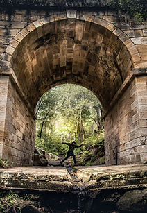 Jumping Under Arch