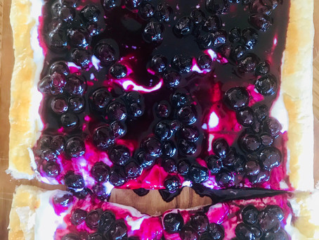 Blueberry Open Tart