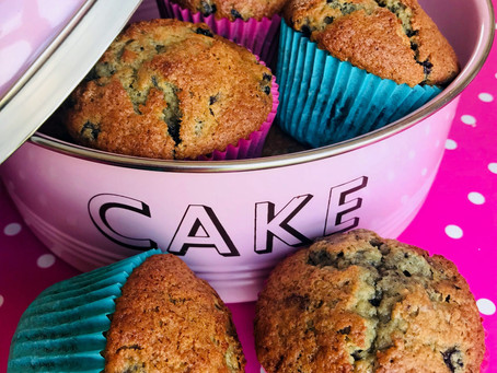 Blueberry & White Chocolate Muffins