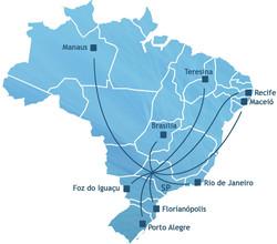 Mapa Locais de Transmissão F´prum DAS