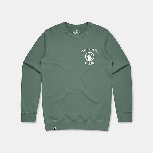 Sage Green Logo Sweater