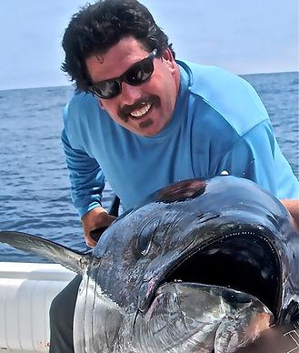 Capt. frank Crescitelli with Big eye tuna