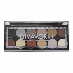 Paleta de Sombras Divamor Makeup
