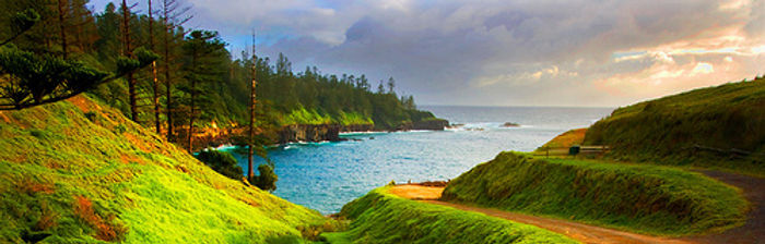 a breathtaking view one can see on Norfolk Island