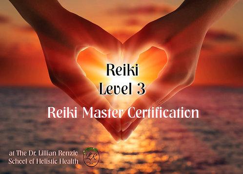 Reiki 3 Certification - Reiki Master