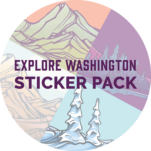 Explore Washington Sticker Pack