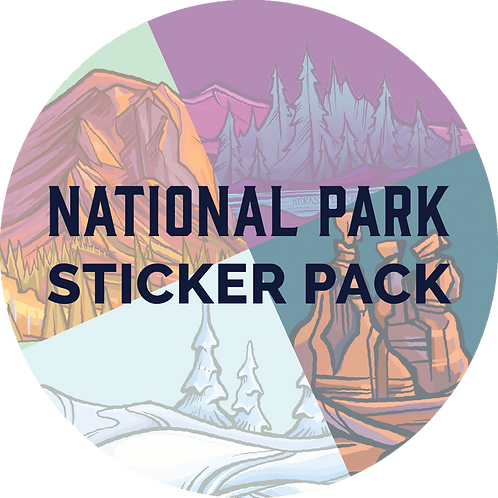 National Park Sticker Pack