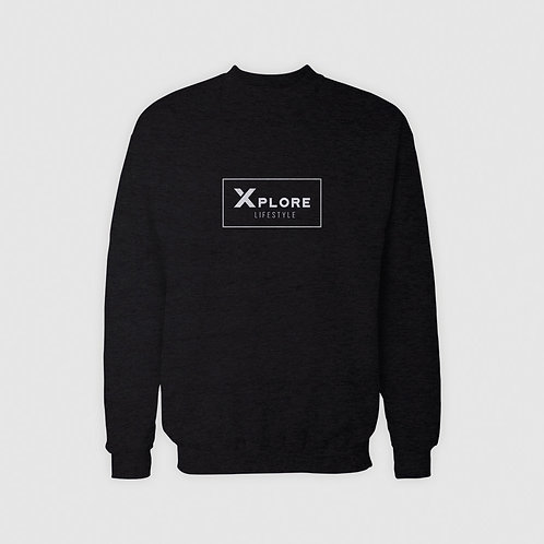 Men's Black Painted Pullover