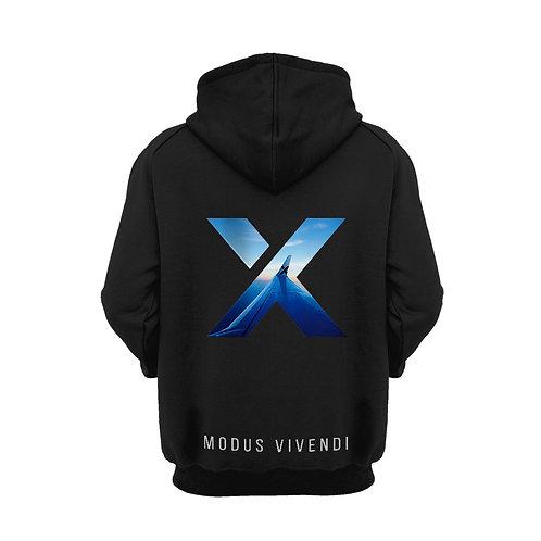Unisex Second Edition Black X Print Hoodie
