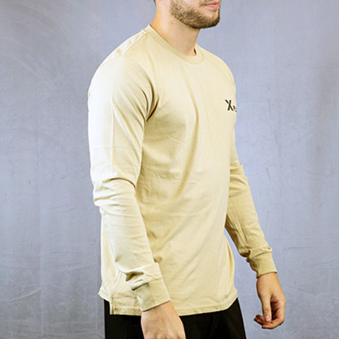 Men's Camel Crossover Long Sleeve Tee