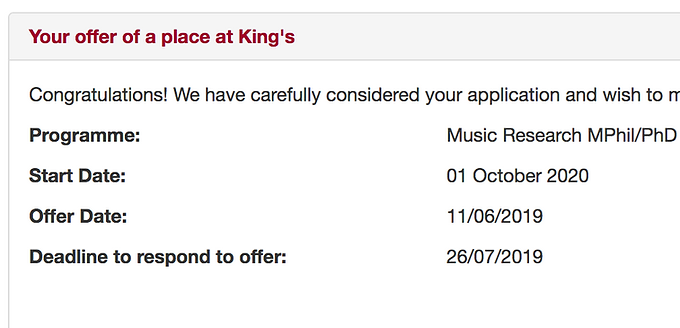 PhD at King's College London