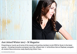 Feature in M Magazine for PRS for Music!