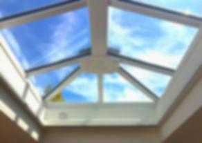 Los Angeles Hip Ridge Skylight Replacement, custom glass skylight installation