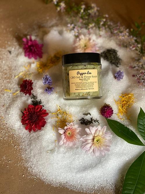 Citrus Jasmine CBD Salt & Flower Scrub