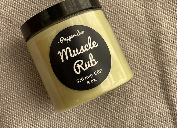 CBD Muscle Rub                        (prices vary by size)