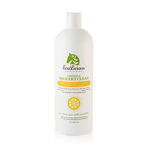 Shampoing Squeaky Green & Clean d'Ecolicious
