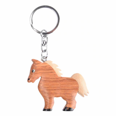 Porte-clef cheval en bois