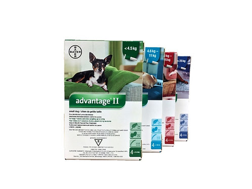 Advantage II canin de bayer