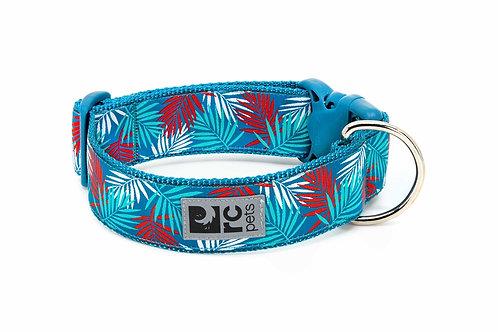 RC pets collier large feuille bleue