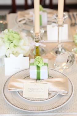 Table White & Green
