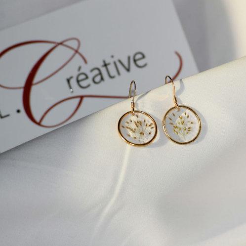 Boucle d'oreilles plaqué or