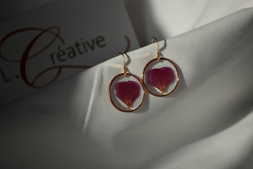 Boucles d'oreilles gold filled or rose