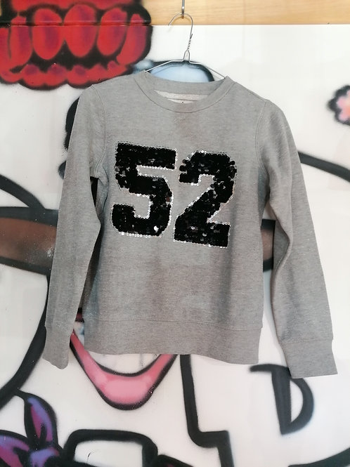 Pull fille gris 10 ans