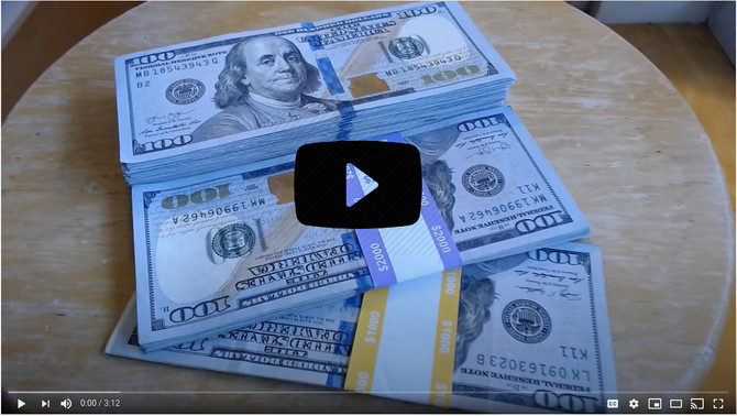 Money Motivation - counting $10,000 cash