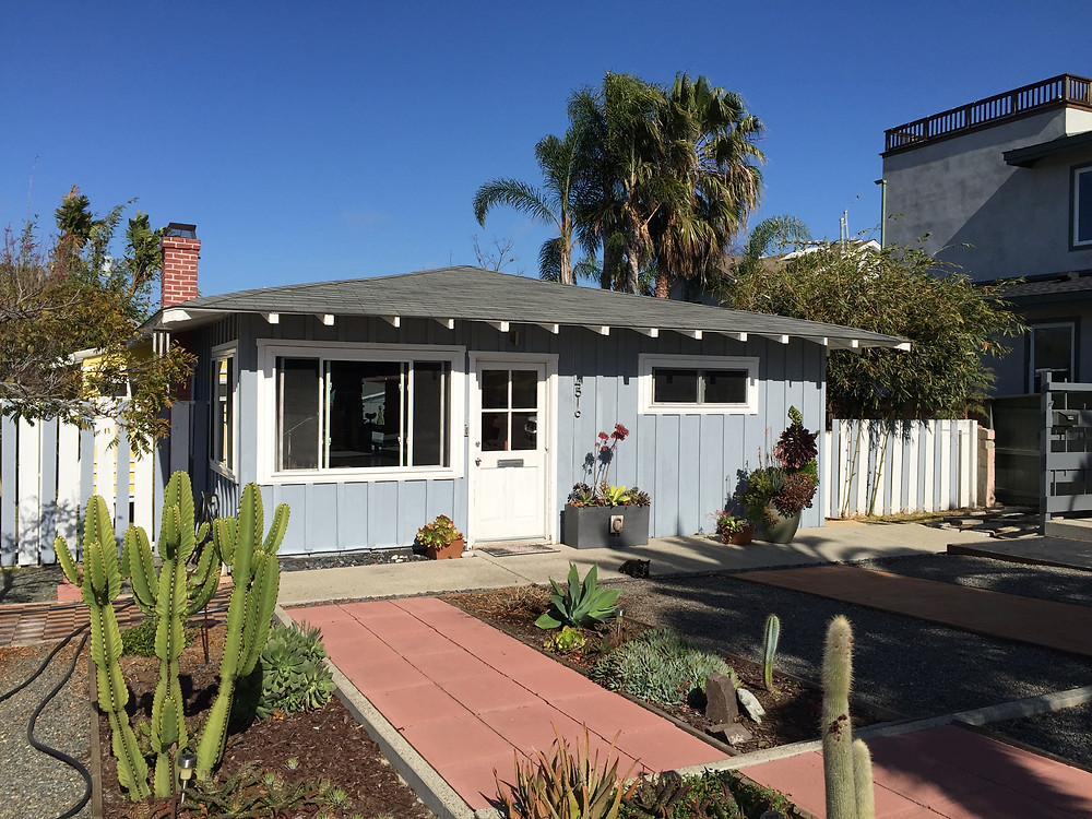 """""""Before"""" the renovation and addition to a small, 1920's beach bungalow!"""