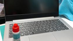 ノートパソコンのガラスコーティング