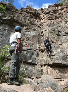 Climbing in Llanymenech