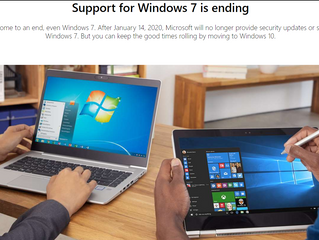 August 2019 Tips - Microsoft will be ending support of Windows 7 and Server 2008