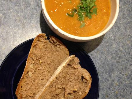 Hearty Red Lentil & Veg soup