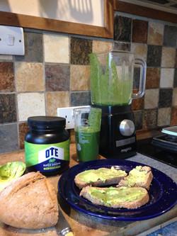 My favourite breakfast, green power